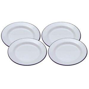 Image is loading 4-x-FALCON-ENAMEL-DINNER-PLATE-9-4-  sc 1 st  eBay & 4 x FALCON ENAMEL DINNER PLATE 9.4