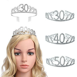 Am-30-40-50-Years-Old-Sparkling-Rhinestone-Number-Hollow-Tiara-Birth-Party-Crow