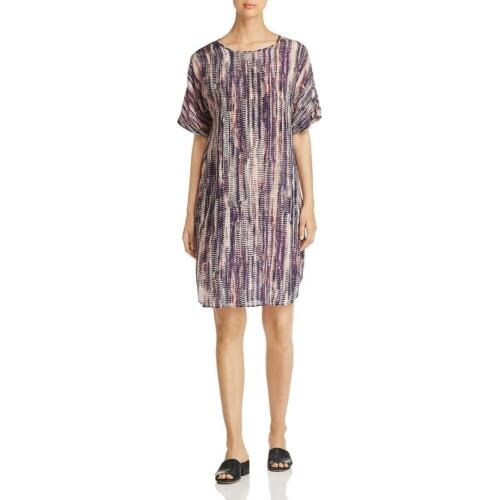 Nic Zoe Womens Silk Printed Open Back Shift Dress BHFO 2782