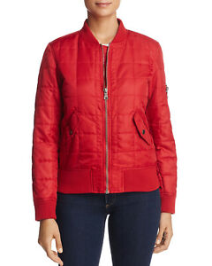 Anorak-Womens-Quilted-Bomber-Jacket-Large-Chile-Pepper