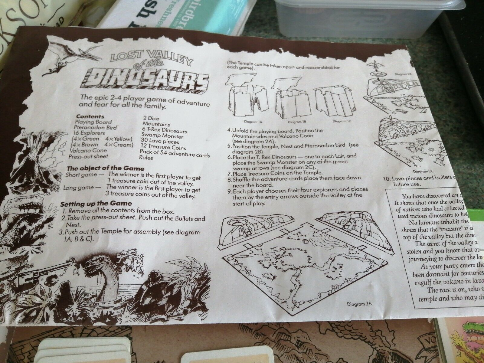 Lost Valley Of The Dinosaurs 1985 Boardgame spare parts 3 x treasure coins
