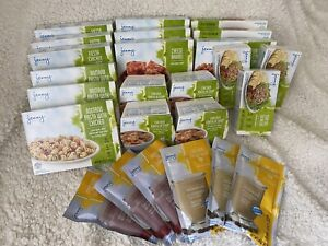 Lot of 28 Jenny Craig Meals and Protein Shakes/Smoothies