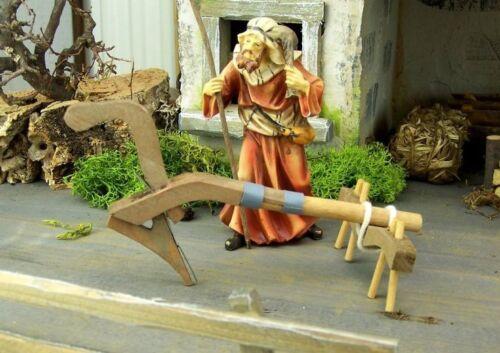 Länge 15 cm Weihnachtskrippe. Pflug aus Holz Krippenwerkzeuge