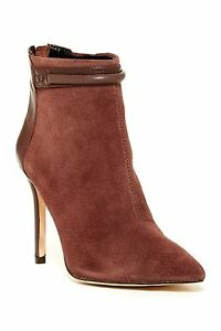 da3725c2b94b NIB  239 Charles David Gemini Bootie High Heels Dark Brown Suede ...