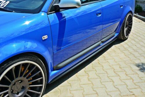 schwarze Seitenschweller ansätze Audi A6 S6 RS6 4B C5 Leisten Schweller ansatz