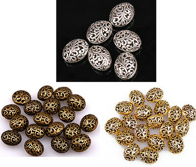 20pcs Great Silver/Golden/Bronze Hollow Flower Spacer Beads 14mm 22mm To Pick