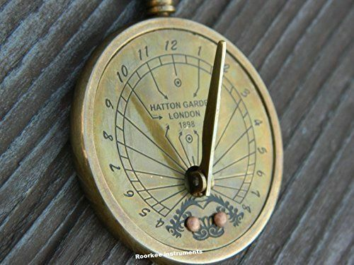 Solid Brass Sundial Key Chain /& ANTIQUE Finish Sundial Key Chain Brass Pocket