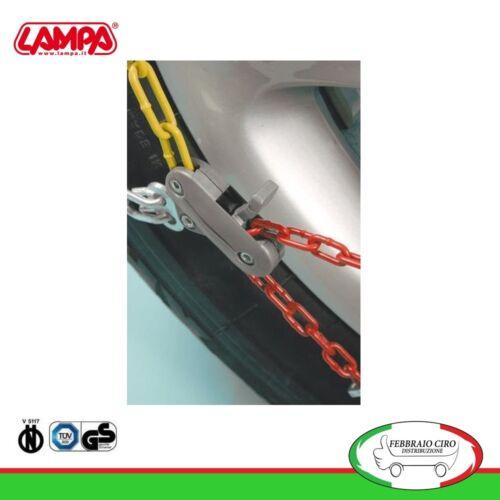 Catene da neve 135//80r14 135 80 14 da 9mm Lampa R9 Omologate Gruppo 3-16063