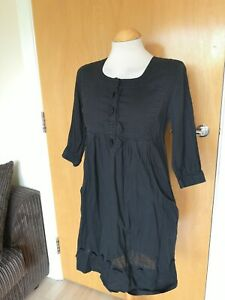 Ladies-WHISTLES-Dress-Size-8-10-Black-Cotton-Smart-Casual-Day-Party-Summer