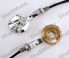 Chrome 3D Skull LED Turn Signal Indicator Light For Honda Kawasaki Suzuki Yamaha