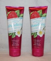 Bath & Body Works Bourbon Strawberry & Vanilla 24 Hour Ultra Shea Body Cream X 2