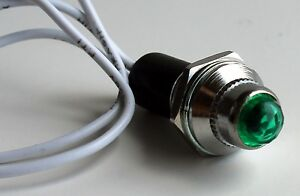 NEW-Pilot-Dash-Indicator-Light-GREEN-1-PC-12V-Hot-Rod