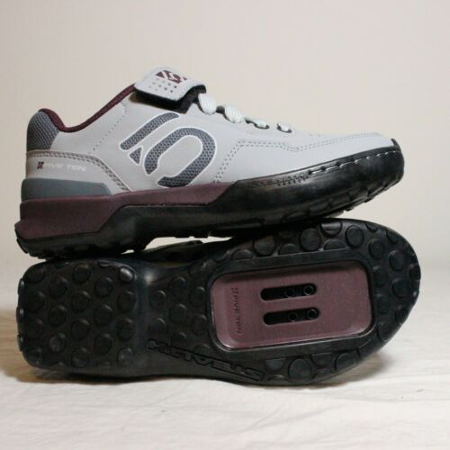 Five Ten Cycling Shoes MTB Kestrel Women's Sz 5.5 Purple Grey Lace Strap Stealth