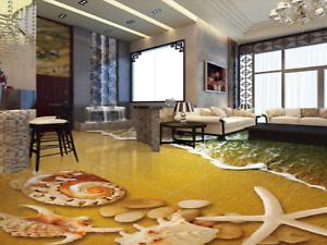 3D Sun Shells Beach 893 Floor WallPaper Murals Wall Print Decal AJ WALLPAPER US
