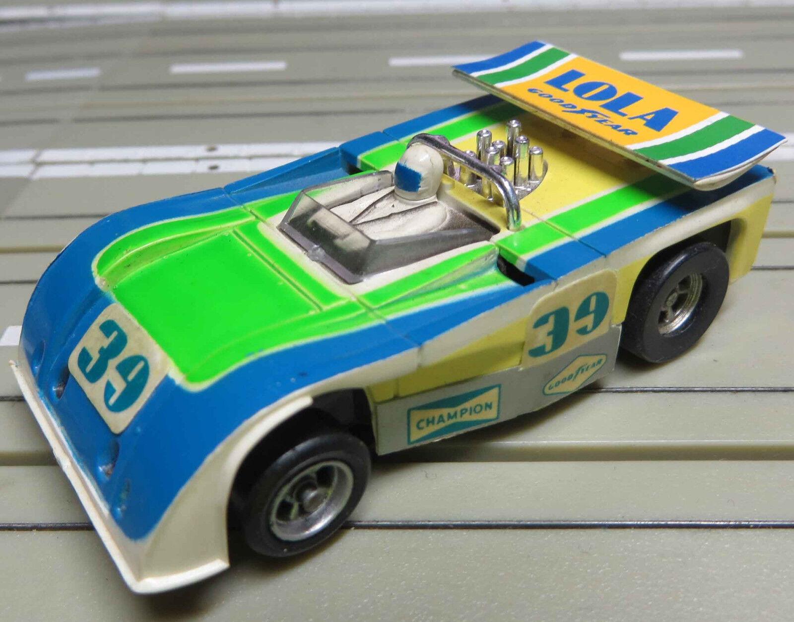 Para Coche Slot Racing Maqueta de Tren Raro Lola T 260 2 Nuevos Lijadora
