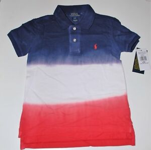 850b6fdd Boys Genuine Ralph Lauren 3 Colour Dip Dye Polo Shirt - 2,&,4yrs job ...