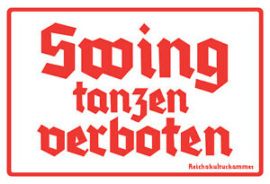 Swing-danser-interdit-Tole-Bouclier-Bouclier-courbe-Tin-Sign-20-x-30-cm-fa0533