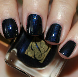 ESTEE-LAUDER-Vernis-BLUE-BLOOD-Metal-Shimmer-BNIB-Nail-Polish-Vamp-Glitz-Chic