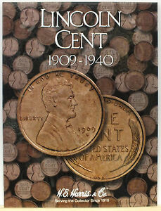 Coin Folder Lincoln Cents 1909 To 1940 Penny Set Harris Album 2672 Ebay