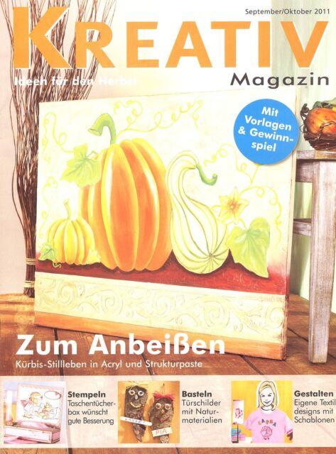Kreativ Magazin - Ideen für den Herbst  September / Oktober 2011