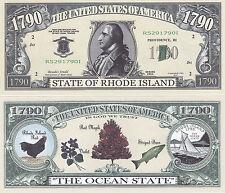 10 Rhode Island RI Patriotic Novelty Money Bills Lot