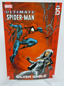 Ultimate-Spider-Man-Vol-15-Silver-Sable-Marvel-Comics-TPB-Trade-Paperback-NEW