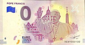 BILLET-0-EURO-POPE-FRANCIS-VATICANO-ALLEMAGNE-2018-NUMERO-100