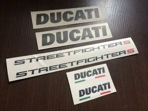 DUCATI Streetfighter 1098s full decals stickers graphics logo set kit black/red