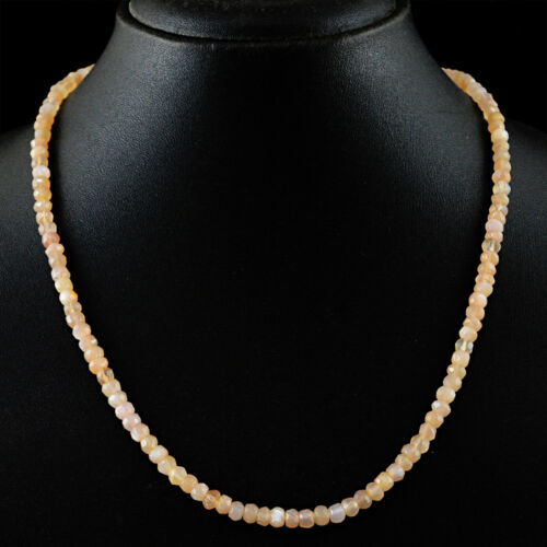 environ 50.80 cm RS long 95.00 cts Natural Moonstone Faceted Perles Collier Amazing 20 in