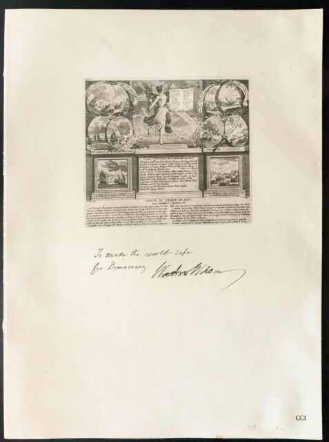 1926 - Litografía presupuesto de la Presidente Woodrow Wilson - ESTADOS UNIDOS
