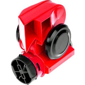 hupe horn rot mit kompressor 139db 12v fanfare lkw boot. Black Bedroom Furniture Sets. Home Design Ideas