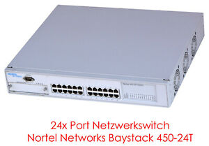 "24x10/100 Mbit 48 Cm 19"" Switch Nortel Réseau Switch Baystack 450-24 T #nw23-afficher Le Titre D'origine"