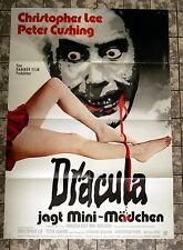 DRACULA JAGT MINI-MÄDCHEN / Dracula A.D. 1972 * A1-FILMPOSTER - HAMMER 1972 LEE