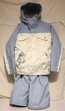 Kids Girls Blue And White D.C. Ski Snowboard Jacket Size S And Pants M