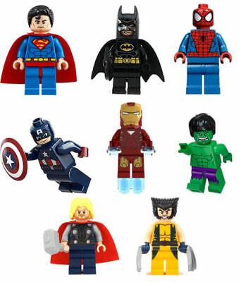 Custom Marvel minifigures hazardous hero on lego brand bricks