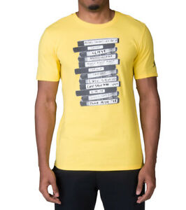 fef395190af1 Jordan JSW Last Shot GFX Crew Neck Short Sleeve Graphic Yellow Tee ...