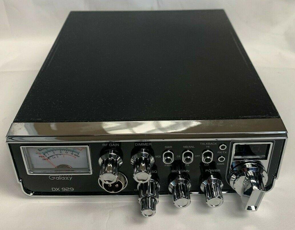 DX929 motherboardbeast Galaxy DX929 CB Radio Mobile 40 Channel SWR w/Starlite Faceplate 80 watts output