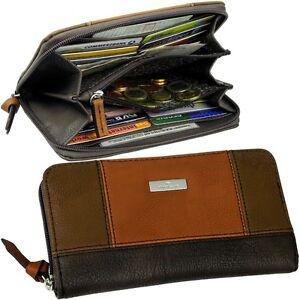 TOM-TAILOR-Damen-Brieftasche-Zip-Geldboerse-Geldbeutel-Portemonnaie-Geldtasche