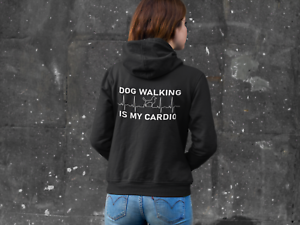Dog Lover Walking Hoodie Women Girl Mum Birthday Gift Modern Style Girlfriend