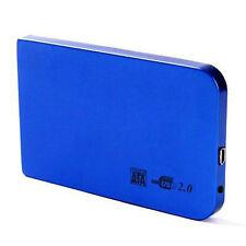 "2.5"" Inch Sata USB 2.0 Hard Drive HDD Enclosure External Laptop Disk - Blue New"