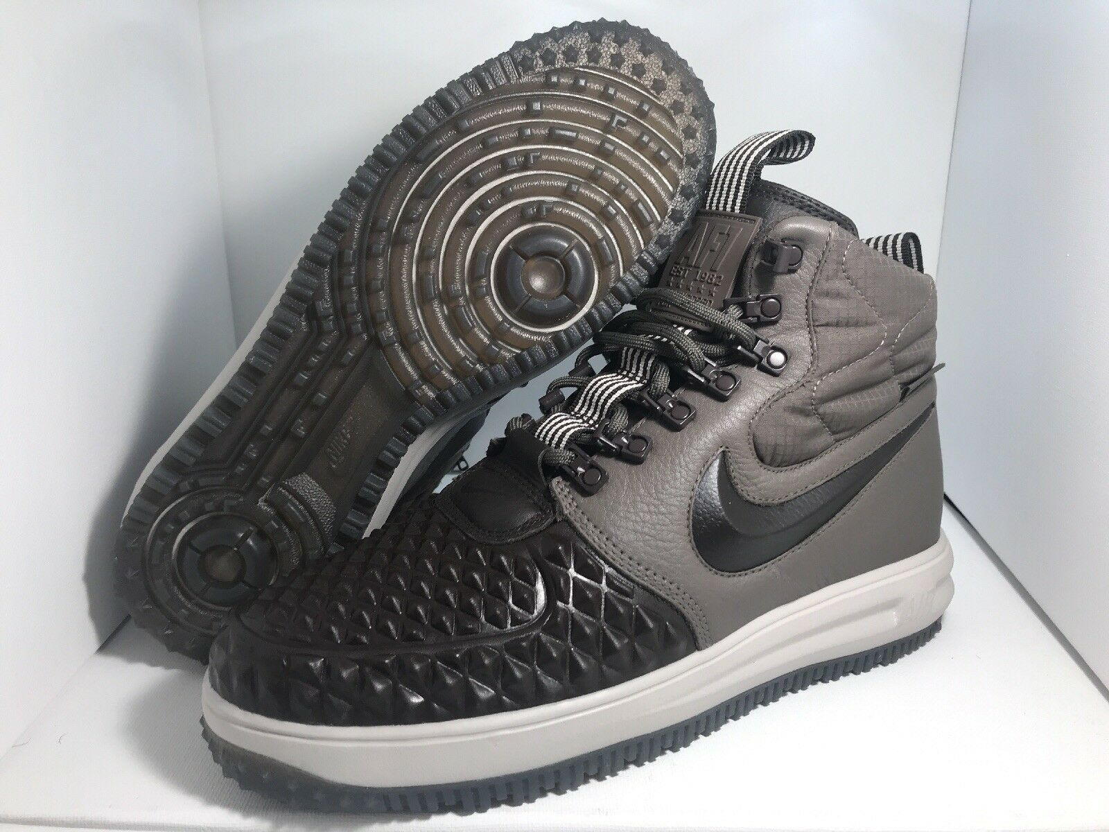 New NIKE LUNAR FORCE 1 DUCKBOOT '17 Price reduction RIDGEROCK BROWN MEN  Sz 9 New shoes for men and women, limited time discount