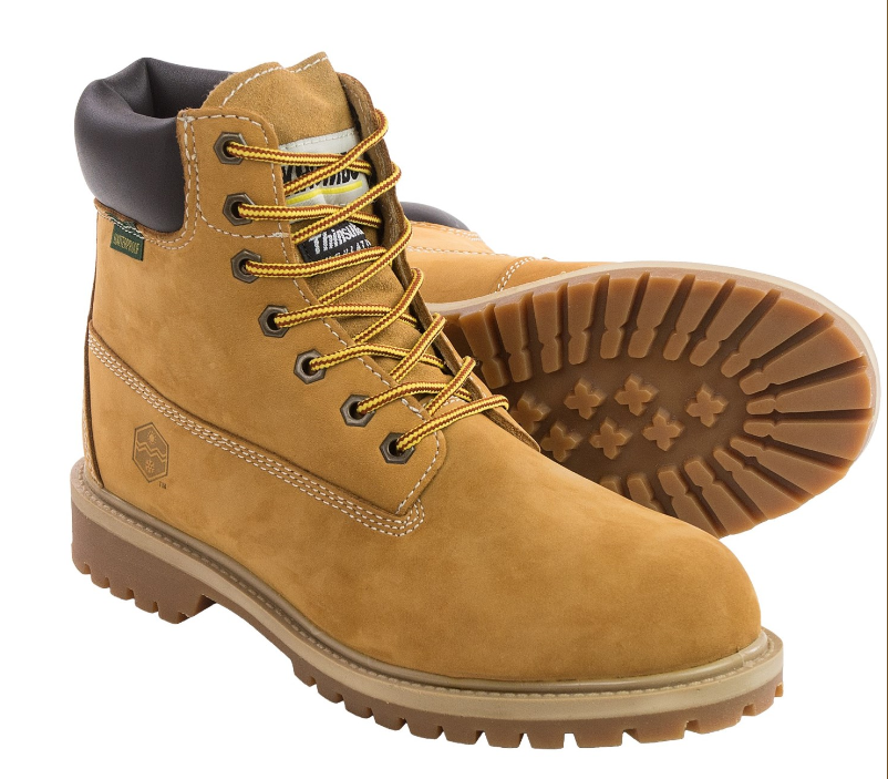 NEW KHOMBU WATERPROOF WORK BOOTS MENS 11 STYLE  HANK  WHEAT COLOR, WATERPROOF