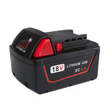 New 18V Battery for Milwaukee M18 48-11-1840 48-11-1850 Red Lithium XC 4.0AH