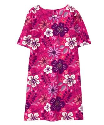 NWT GYMBOREE Girls MIX N MATCH Flowers Floral Pink Dress Size L 10 12
