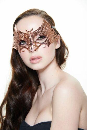 Mystical Rose Gold Venetian Laser Cut Masquerade Mask K2008RG Mardi Gras Prom