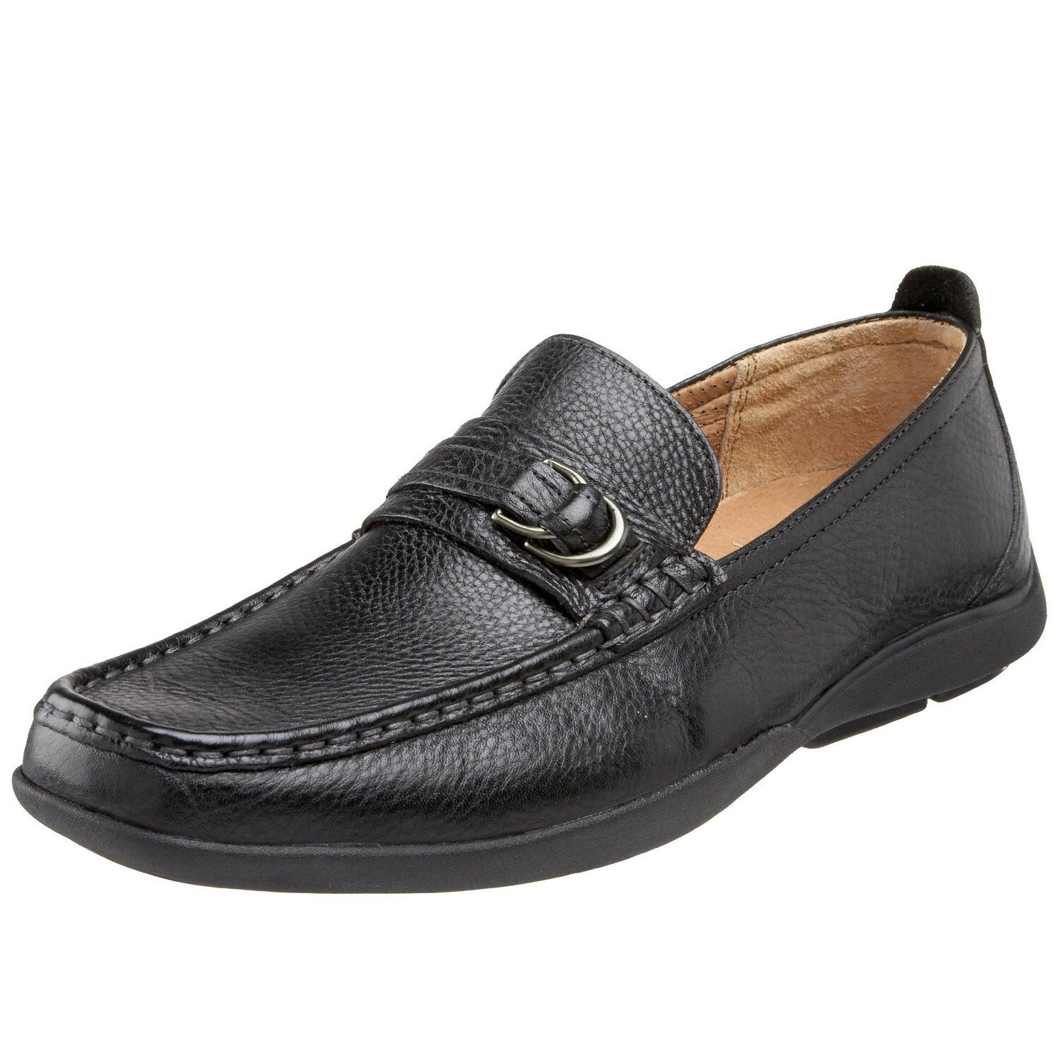 Florsheim 'Heyworth' Black Leather Buckle Loafers Sz 11