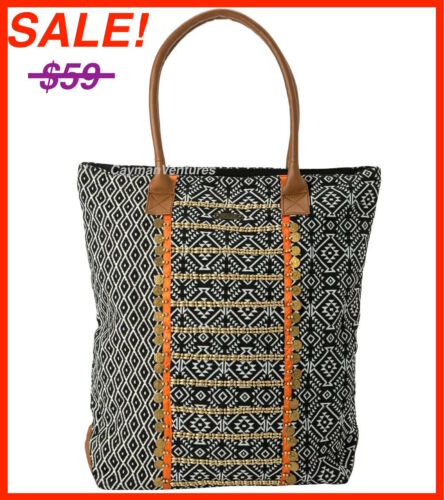 NEW SALE! BLACK RIP CURL WANDERER TOTE BAG BEACH DIAPER TRAVEL BAG POUCH