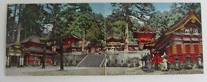 1970-Panorama-Klappkarte-Japan-YOMEI-Non-Gate-Bauwerk-Postkarte-Postcard-Nippon