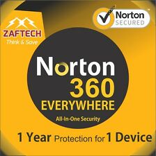 Antivirus, Norton 360 premier edition Latest 2016 2017-1 Device - 1 Year License