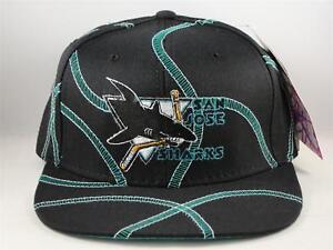 Kids-Youth-Size-San-Jose-Sharks-NHL-Vintage-Snapback-Cap-Hat-American-Needle